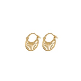 Small Daylight earrings from Pernille Corydon in Goldplated-Silver Sterling 925
