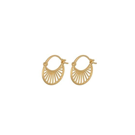 Small Daylight earrings von Pernille Corydon in Vergoldet-Silber Sterling 925