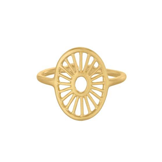 Small Daylight ring von Pernille Corydon in Vergoldet-Silber Sterling 925