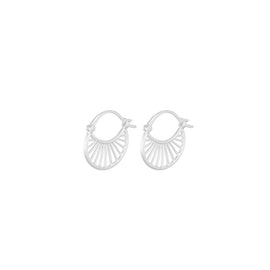 Small Daylight earrings from Pernille Corydon in Silver Sterling 925