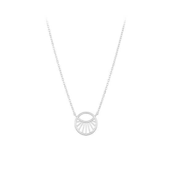 Small Daylight necklace von Pernille Corydon in Silber Sterling 925| Matt,Blank