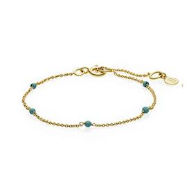 India bracelet Turquoise von Sistie in Vergoldet-Silber Sterling 925|Blank