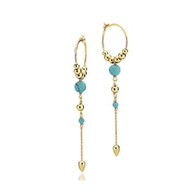 India earrings Turquoise