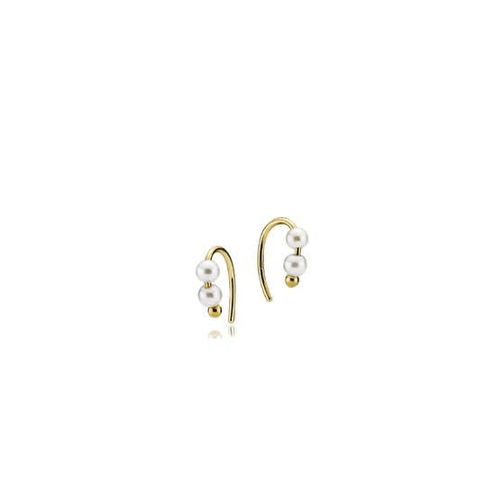 Dashing White mini earrings