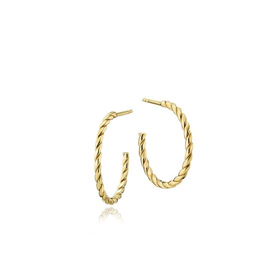 Halo small creol earrings fra Sistie i Forgyldt-Sølv Sterling 925