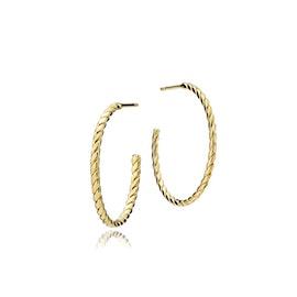 Halo big creol earrings