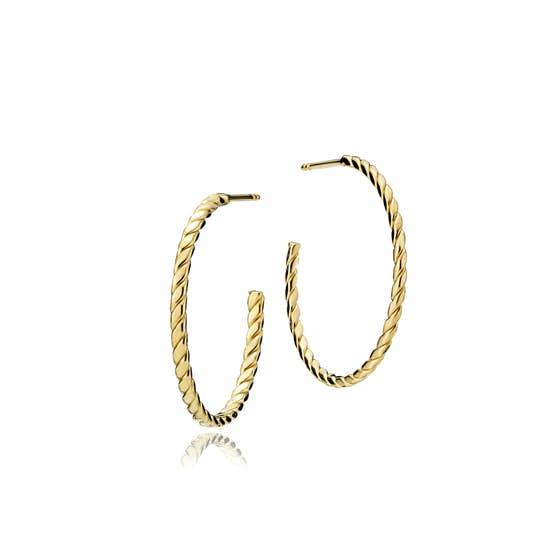 Halo big creol earrings fra Sistie i Forgyldt-Sølv Sterling 925