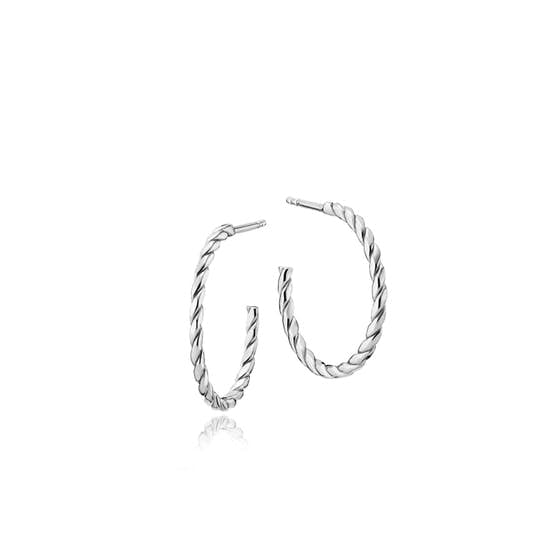 Halo small creol earrings von Sistie in Silber Sterling 925
