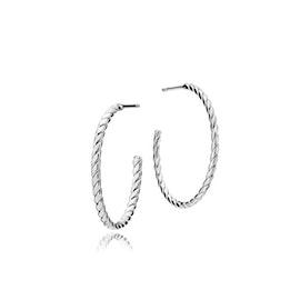 Halo big creol earrings från Sistie i Silver Sterling 925