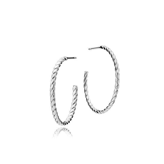 Halo big creol earrings fra Sistie i Sølv Sterling 925