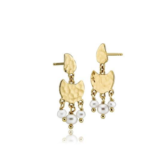 Dream Pearl earrings von Sistie in Vergoldet-Silber Sterling 925