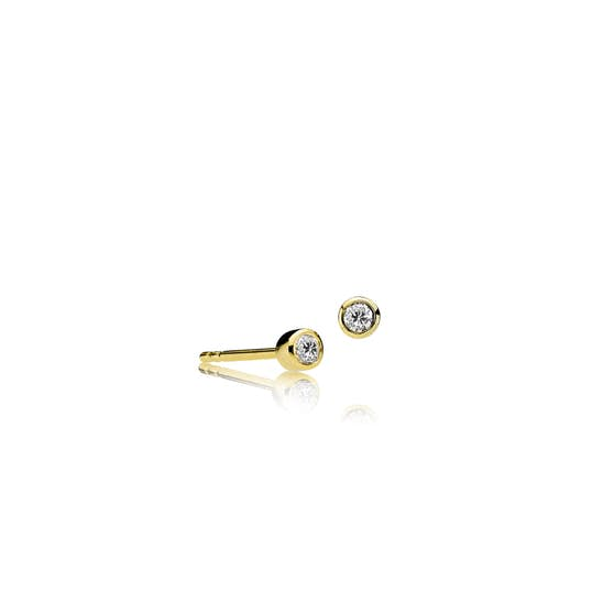 Element earsticks White from Sistie in Goldplated-Silver Sterling 925