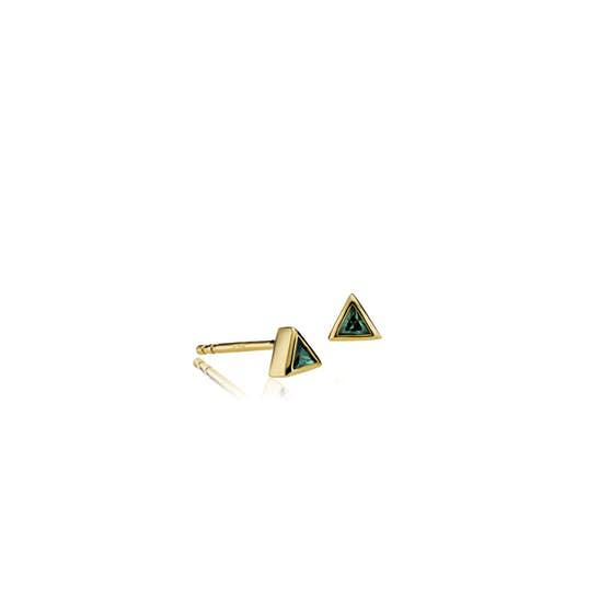 Element earsticks Green från Sistie i Förgyllt-Silver Sterling 925