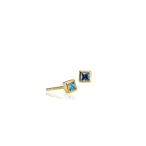 Element earsticks Blue från Sistie i Förgyllt-Silver Sterling 925