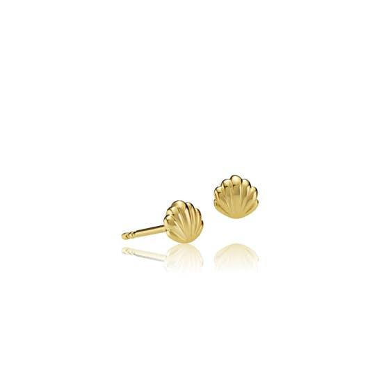 Sea Shell earsticks von Sistie in Vergoldet-Silber Sterling 925
