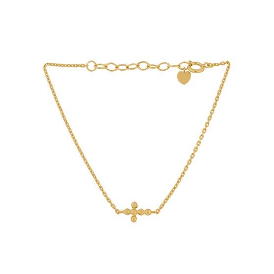 Cross bracelet from Pernille Corydon in Goldplated-Silver Sterling 925  Matt,Blank