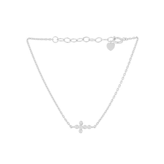Cross bracelet from Pernille Corydon in Silver Sterling 925| Matt,Blank