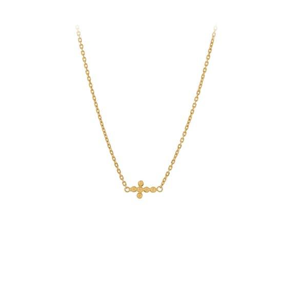 Cross necklace från Pernille Corydon i Förgyllt-Silver Sterling 925| Matt,Blank
