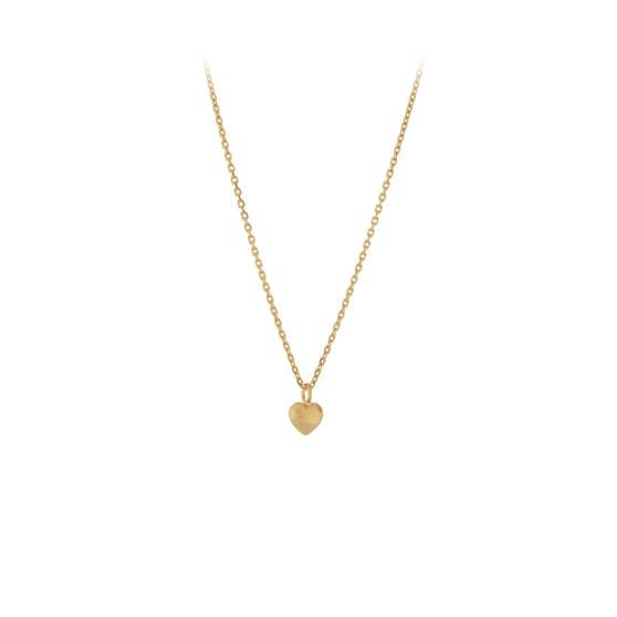 Love necklace fra Pernille Corydon i Forgyldt-Sølv Sterling 925| Matt,Blank