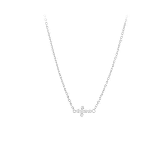 Cross necklace from Pernille Corydon in Silver Sterling 925| Matt,Blank