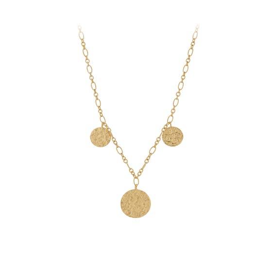 New Moon necklace fra Pernille Corydon i Forgyldt-Sølv Sterling 925|Blank