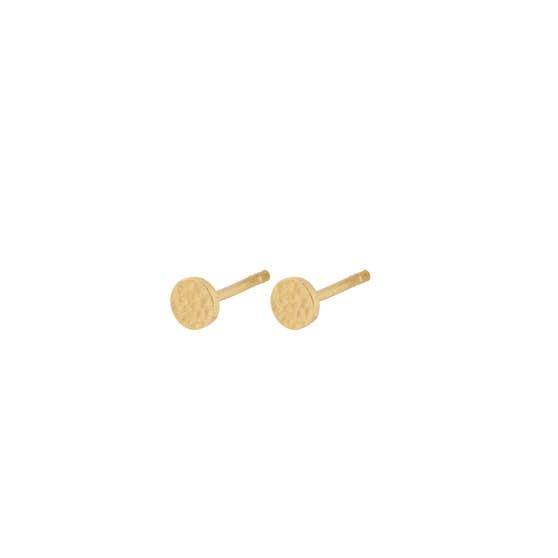 Small New Moon earsticks von Pernille Corydon in Vergoldet-Silber Sterling 925