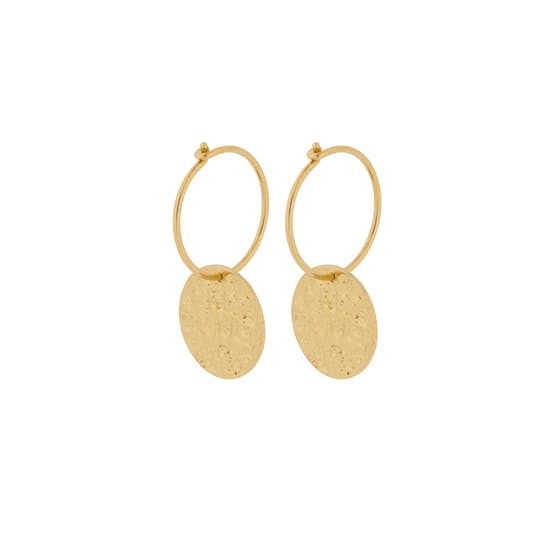 New Moon earrings from Pernille Corydon in Goldplated-Silver Sterling 925
