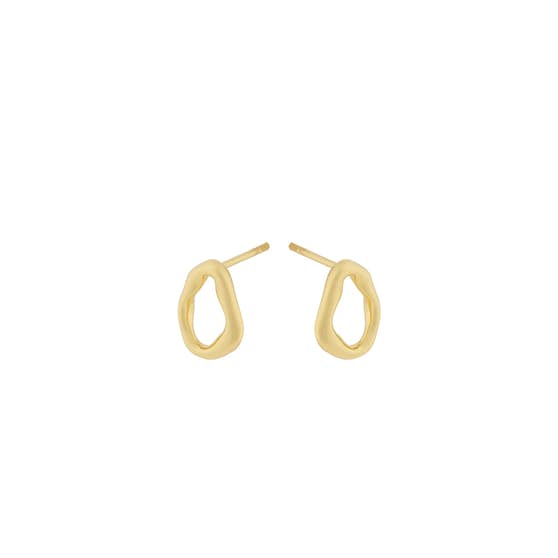 Gaia earsticks from Pernille Corydon in Goldplated-Silver Sterling 925