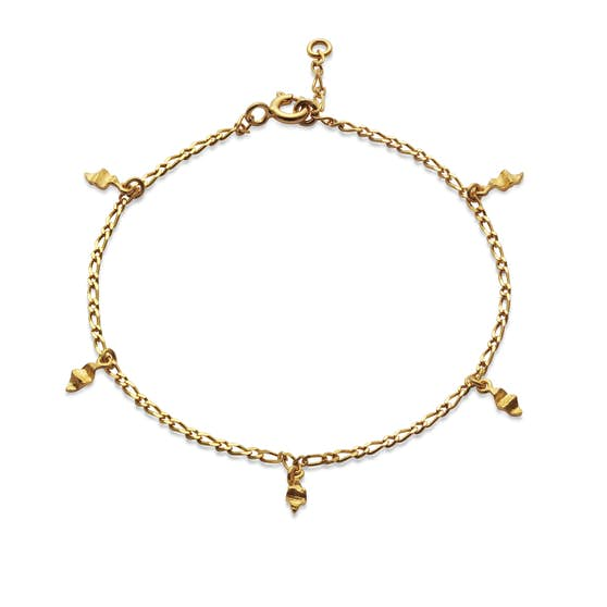 Una small bracelet von Maanesten in Vergoldet-Silber Sterling 925  Matt,Blank