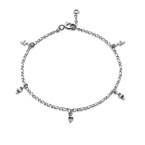 Una small bracelet von Maanesten in Silber Sterling 925| Matt,Blank