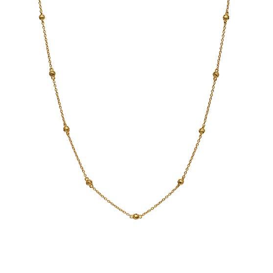 Lava necklace fra Maanesten i Forgylt-Sølv Sterling 925