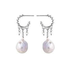 Nellie White earrings