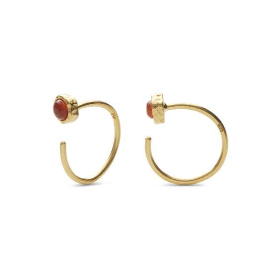 Mesa Orange earrings från Maanesten i Förgyllt-Silver Sterling 925