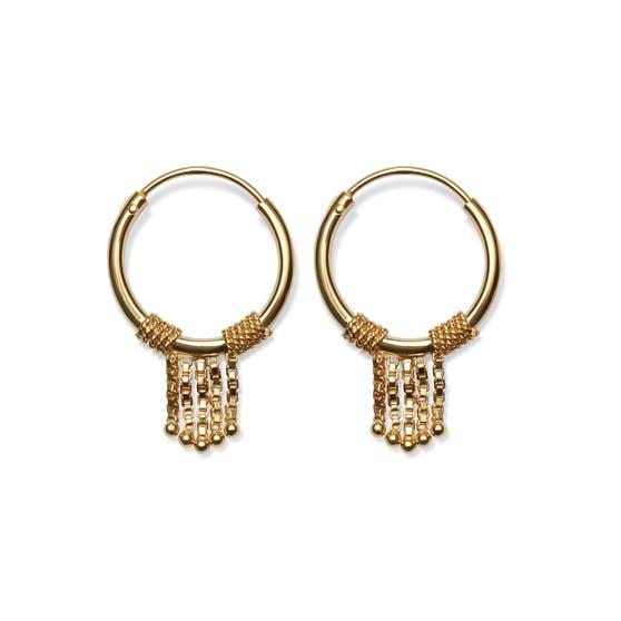 Tassel earrings von Maanesten in Vergoldet-Silber Sterling 925