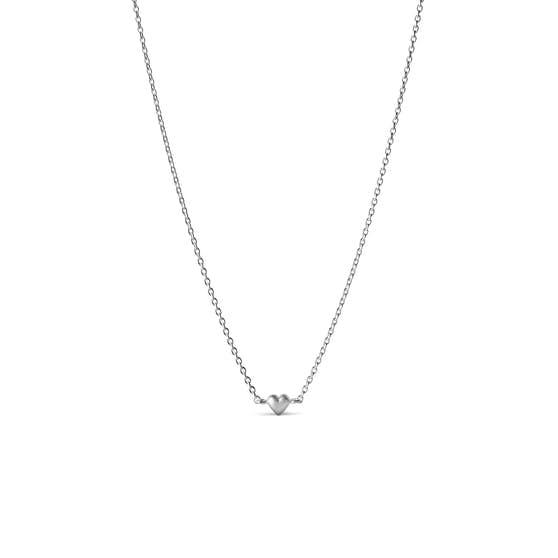Little Love necklace fra Enamel Copenhagen i Sølv Sterling 925| Matt,Blank