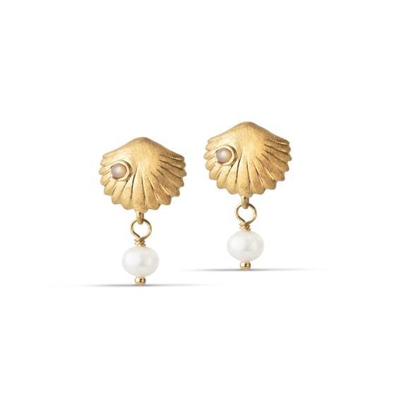 Bay Scallop earrings från Enamel Copenhagen i Förgyllt-Silver Sterling 925