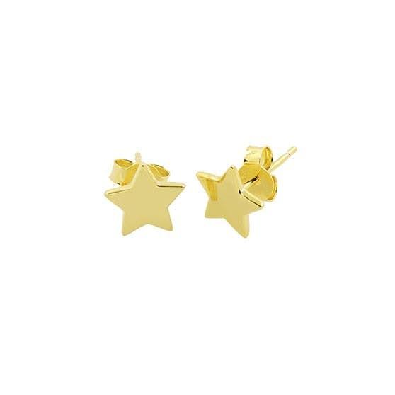 Star earsticks von A-Hjort in Vergoldet-Silber Sterling 925