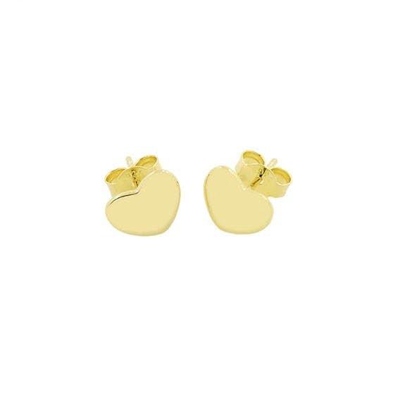 Heart earsticks fra A-Hjort i Forgylt-Sølv Sterling 925