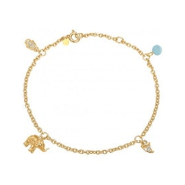 Lucky charms bracelet Arctic Blue