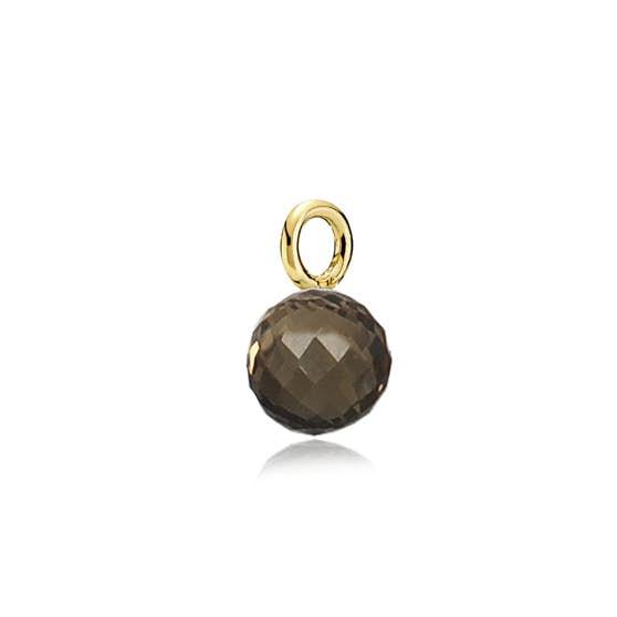 Marble Pendant Smokey från Izabel Camille i Förgyllt-Silver Sterling 925