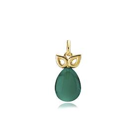 Scarlet Pendant Green von Izabel Camille in Vergoldet-Silber Sterling 925