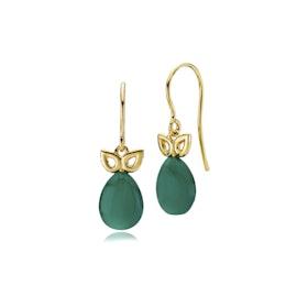 Scarlet earrings green onyx