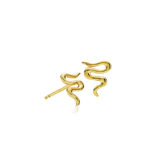 Saniya earsticks von Izabel Camille in Vergoldet-Silber Sterling 925