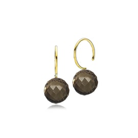 Marble earrings smokey