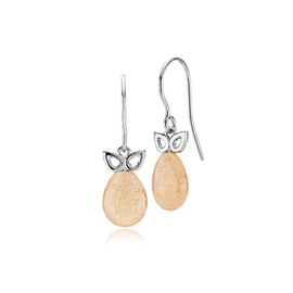 Scarlet earrings peach moonstone