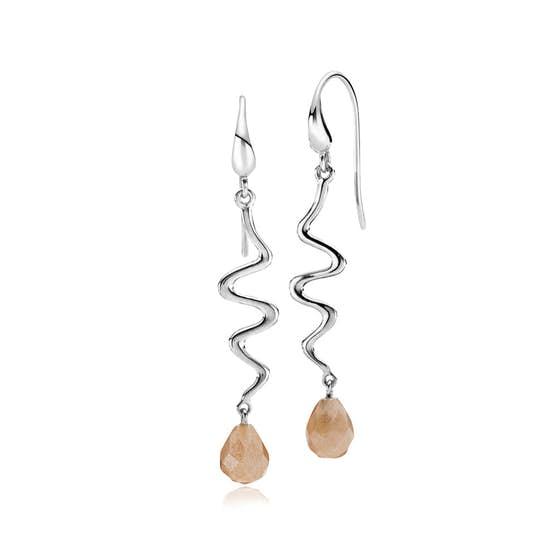 Saniya earrings peach von Izabel Camille in Silber Sterling 925