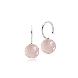 Marble earrings pink
