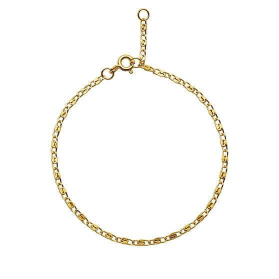 Eva bracelet fra Maanesten i Forgyldt-Sølv Sterling 925|Blank