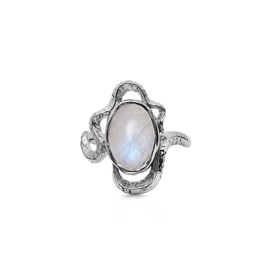 Siren ring von Maanesten in Silber Sterling 925| Gehämmert,Blank