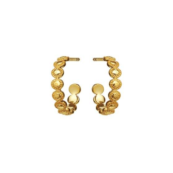 Tabia earrings von Maanesten in Vergoldet-Silber Sterling 925